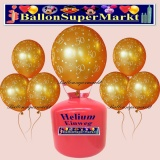 Luftballons Helium Einweg Set, goldene Hochzeit Luftballons, Zahl 50