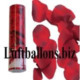 Mini-Konfettikanone, Konfettishooter Rosenblätterregen, Rot