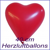 Rote Herzluftballons, 40 cm, 50 Stück