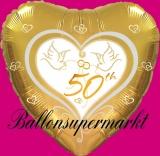 Hochzeits-Luftballon mit Helium, 50 Goldene Hochzeit, Hochzeitstauben, Hochzeitsglückwünsche und Hochzeitsgeschenk