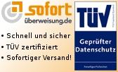 Zahlen Sie bequem per Sofortüberweisung.de - schnell und sicher, TÜV zertifiziert, Sofortiger Versand!